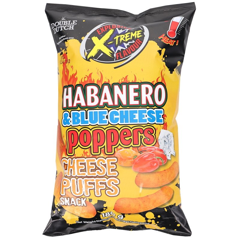 Juustonaksut Habanero & Blue Cheese - 66% alennus