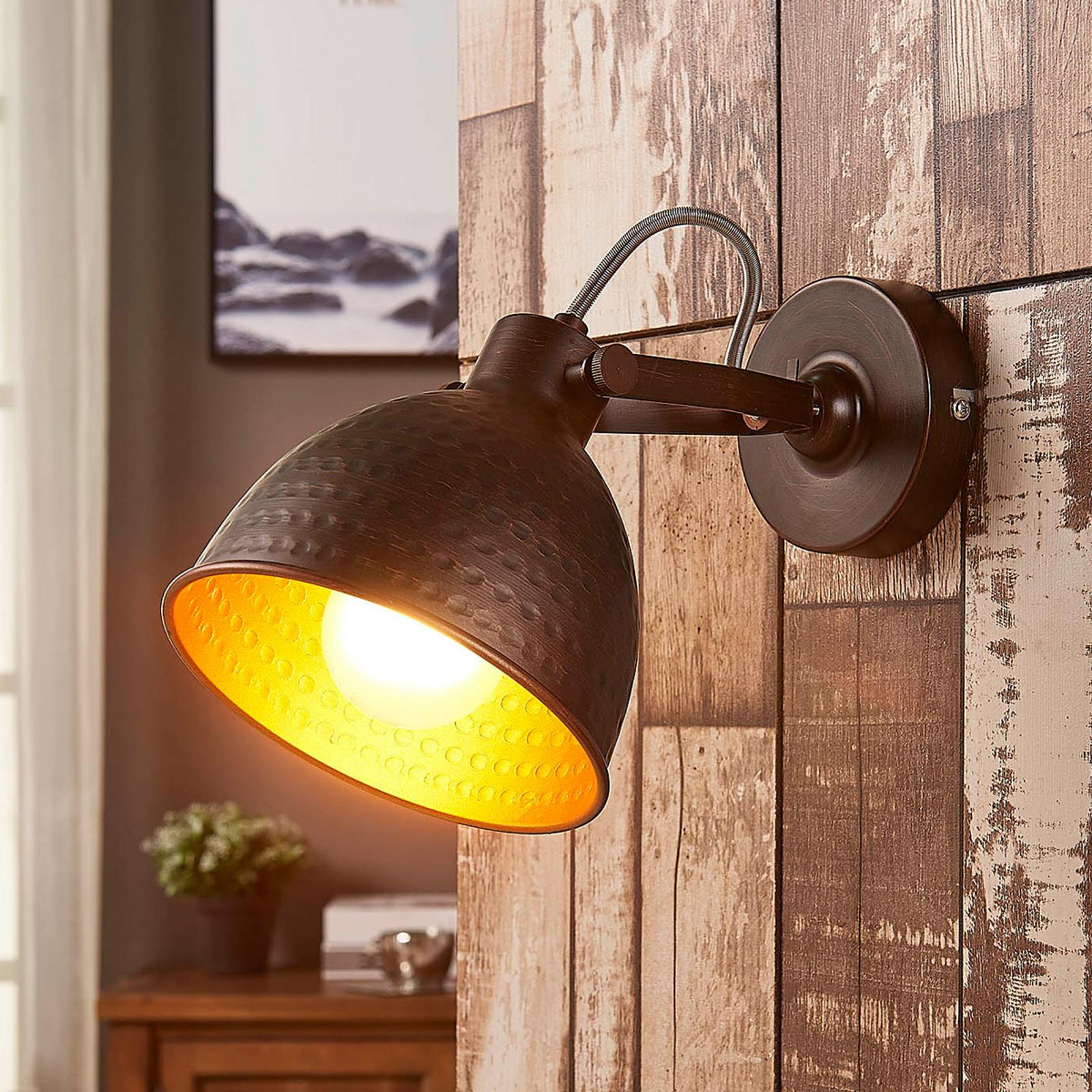 Mirielle - ruskea seinävalaisin, sisältä oranssi