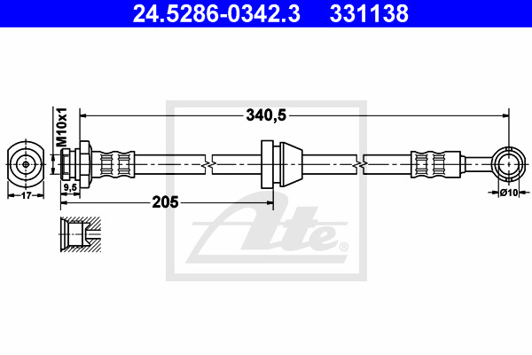 Jarruletku ATE 24.5286-0342.3