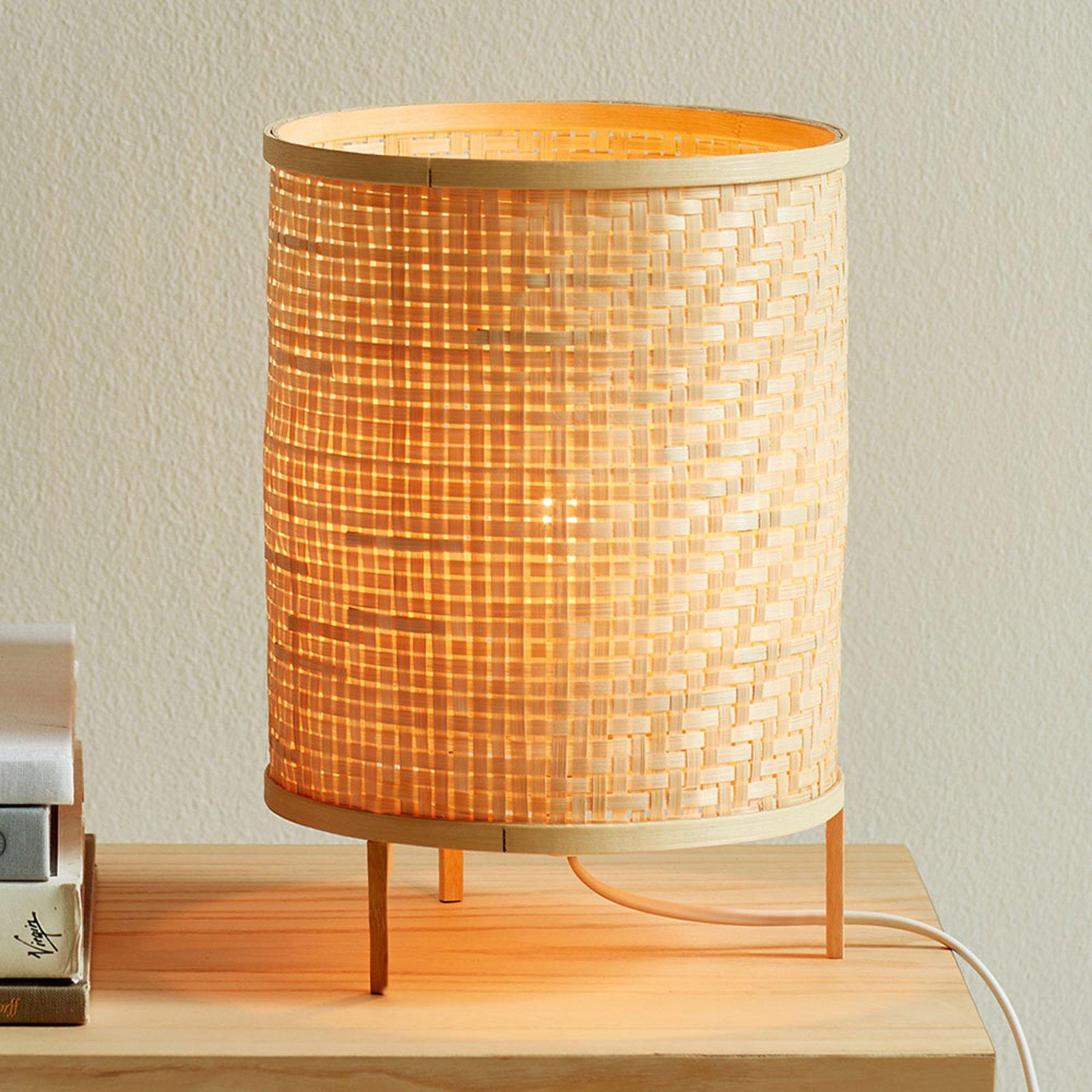 Bordlampe Trinidad av naturbambus
