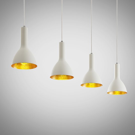 Arcchio Cosmina -riippuvalo, 4-lamp., valkoinen