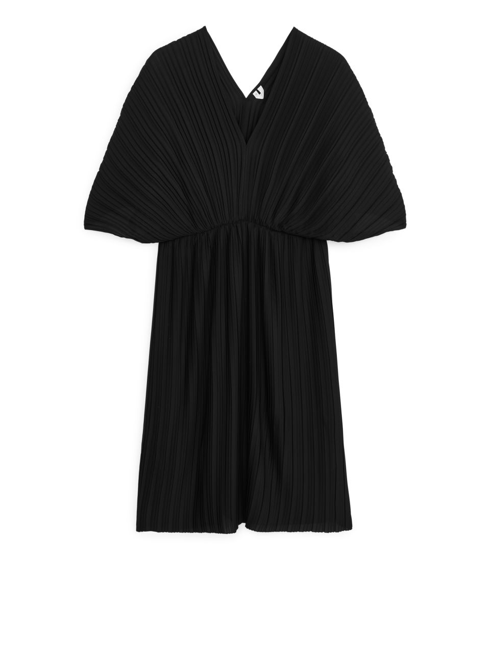Short Pleated Dress - Black