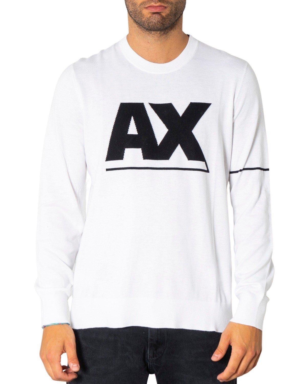 Armani Exchange Men's Sweater Various Colours 308093 - white XS