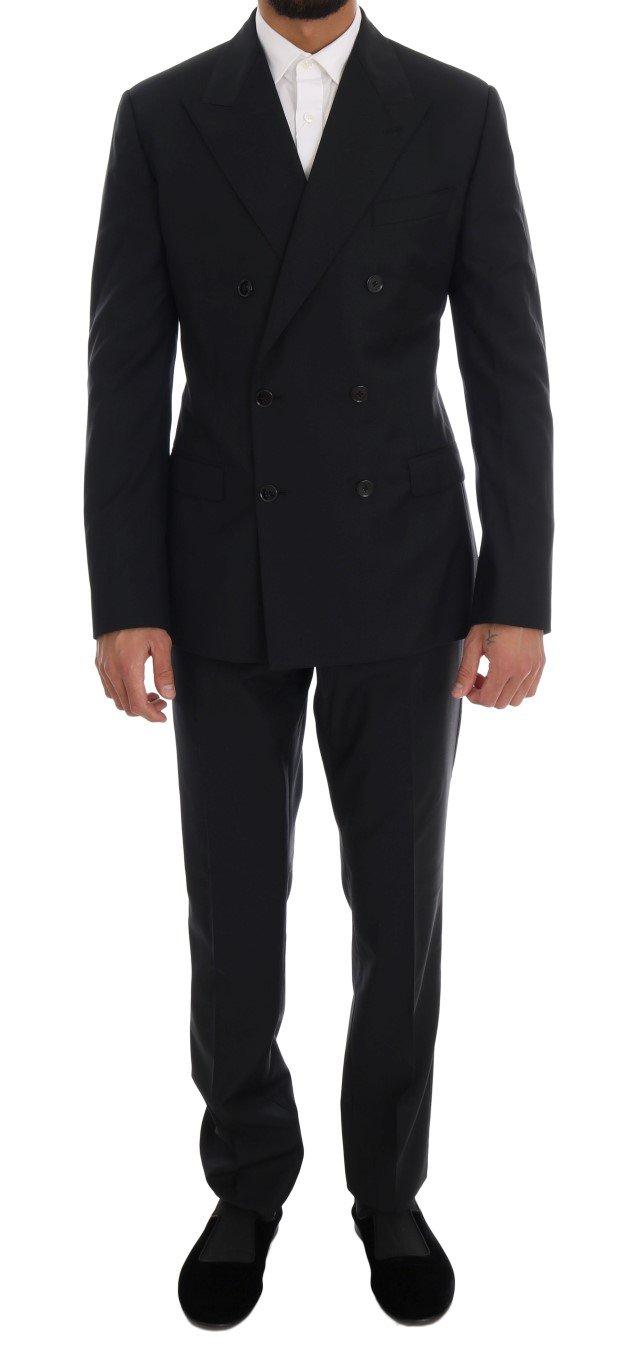 Dolce & Gabbana Men's Wool Double Breasted SICILIA Suit Blue KOS1120 - IT48 | M