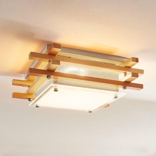 Kulmikas LED-puukattolamppu Zuna, himmennettävä