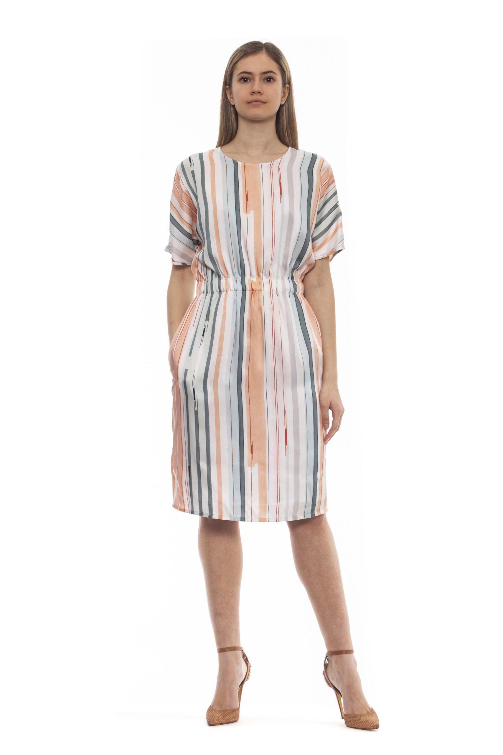 Peserico Women's Marrone Dress Brown PE1383214 - IT42 | S