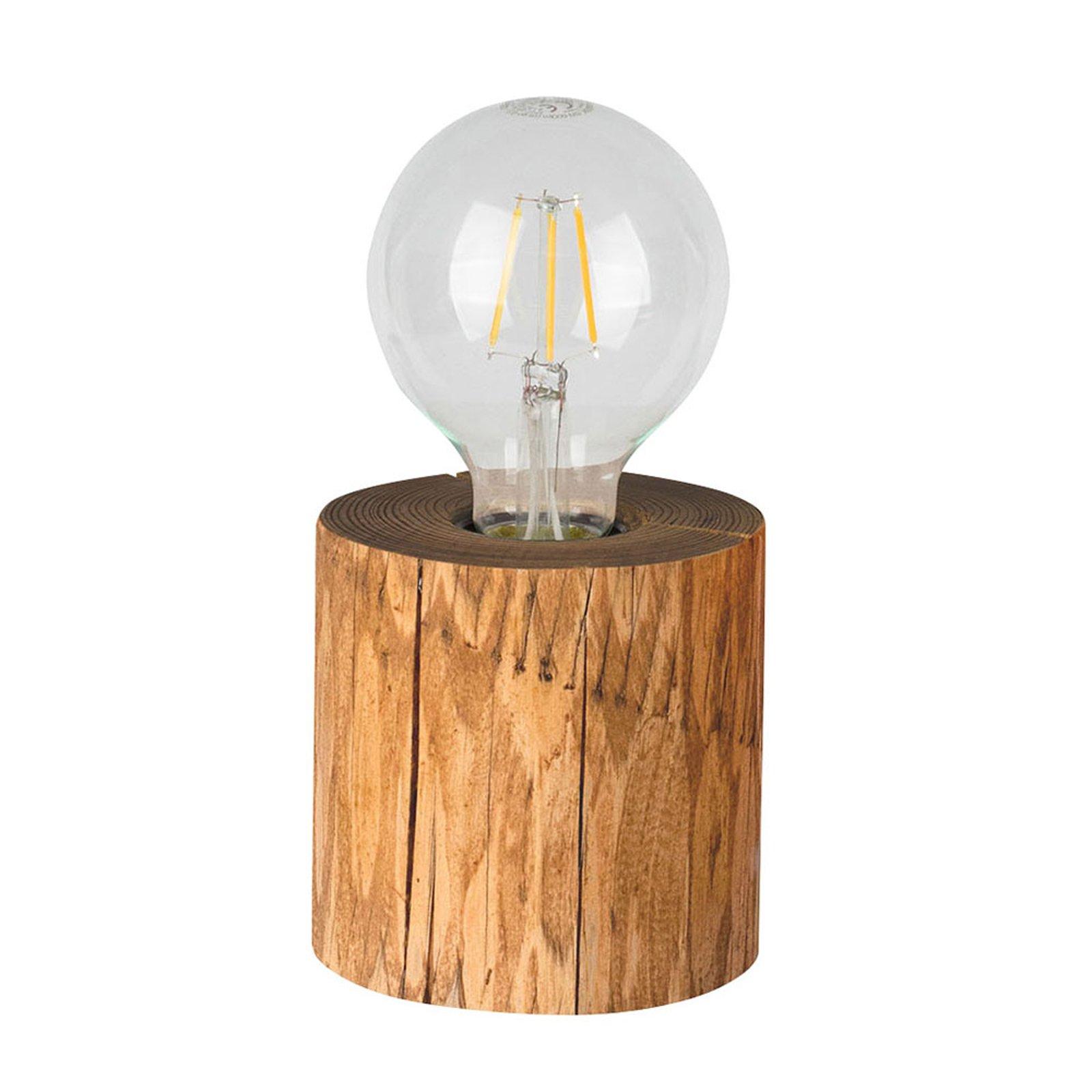 Bordlampe Trabo, beiset furutre, høyde 10cm