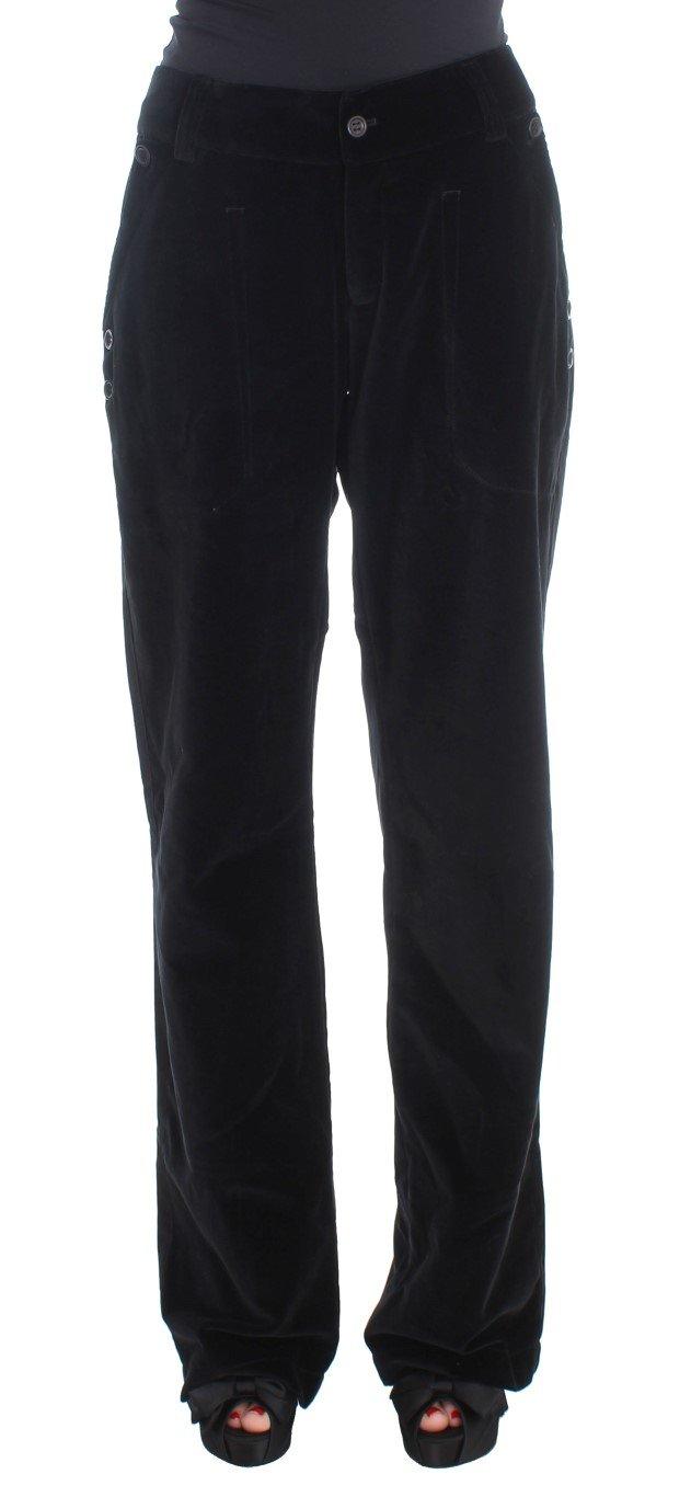 Ermanno Scervino Women's Straight Legs Trouser Black SIG30393 - IT46|XL