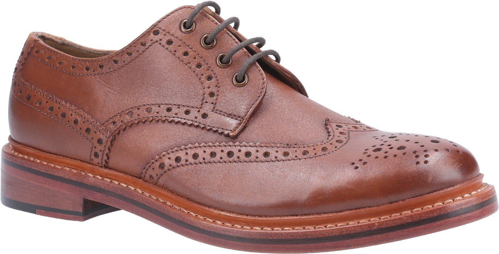 Cotswold Men's Quenington Leather Welt Brogue SHoe Various Colours 29256 - Brown 7