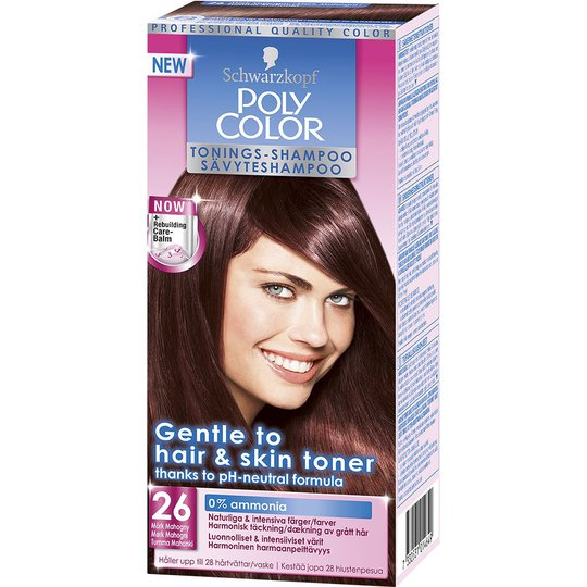 Schwarzkopf Poly Color Toning Shampoo, 26 - Dark Mahogany, Schwarzkopf Hiussävytteet