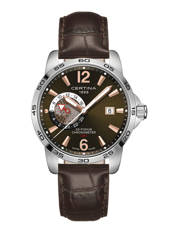 Certina DS Podium GMT COSC Chronometer C034.455.16.087.01 Herrklocka