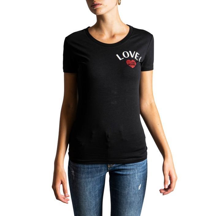 Love Moschino Women's T-Shirt Black 320659 - black 38