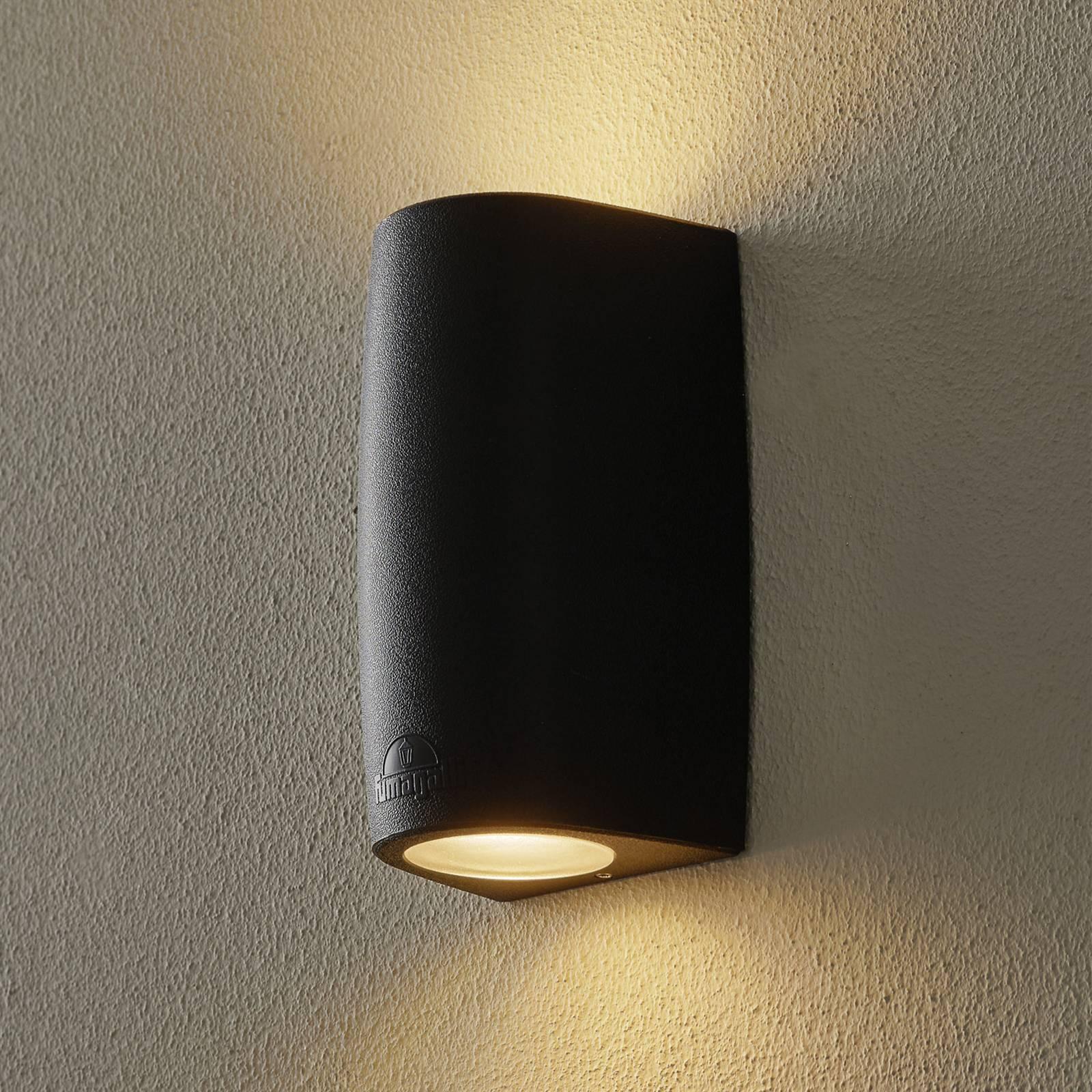 Marta-seinälamppu 9,2 cm 2-lamp. CCT musta/frosted