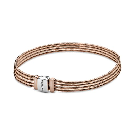Armband i äkta roseförgyllt silver