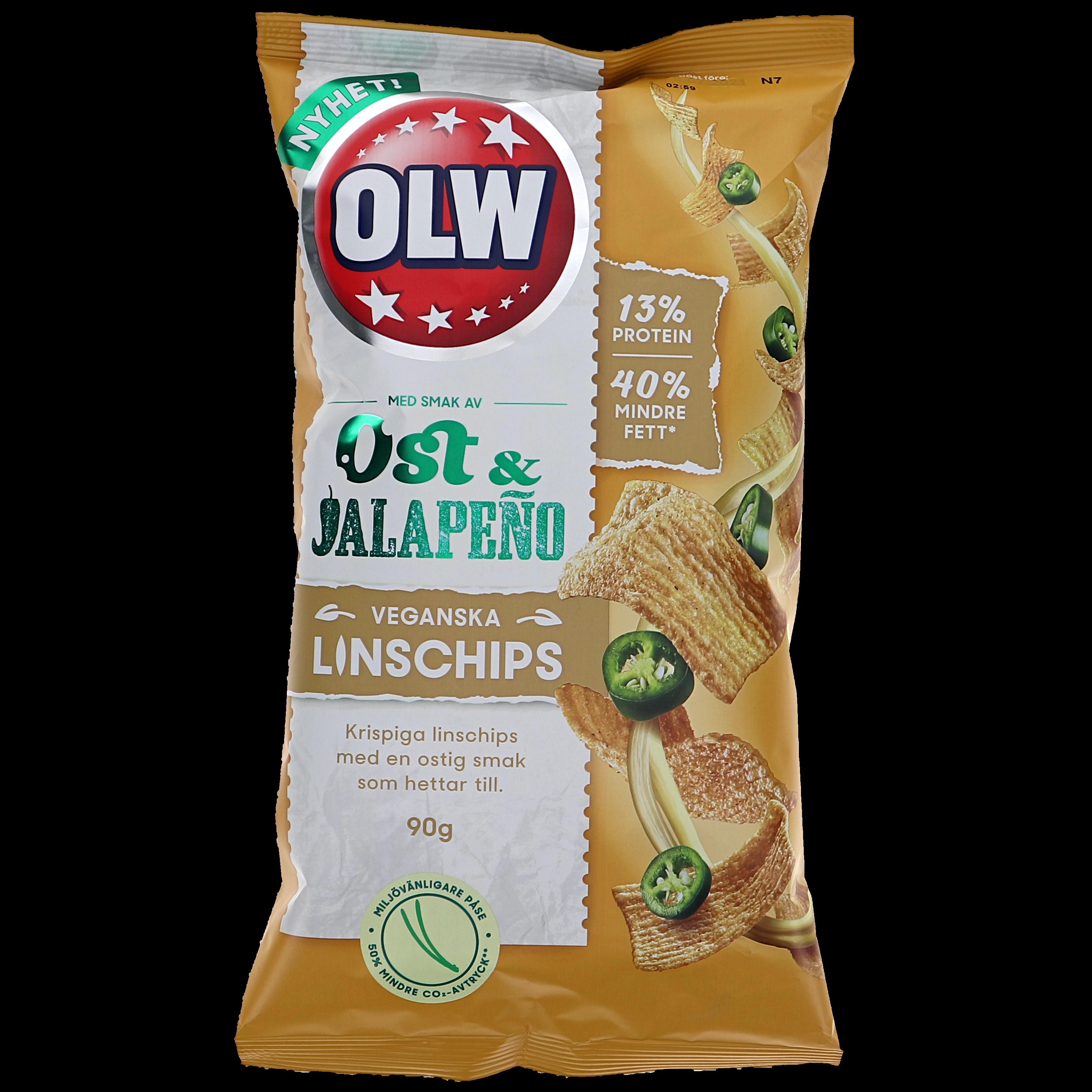 Linschips Ost & Jalapeño - 35% rabatt