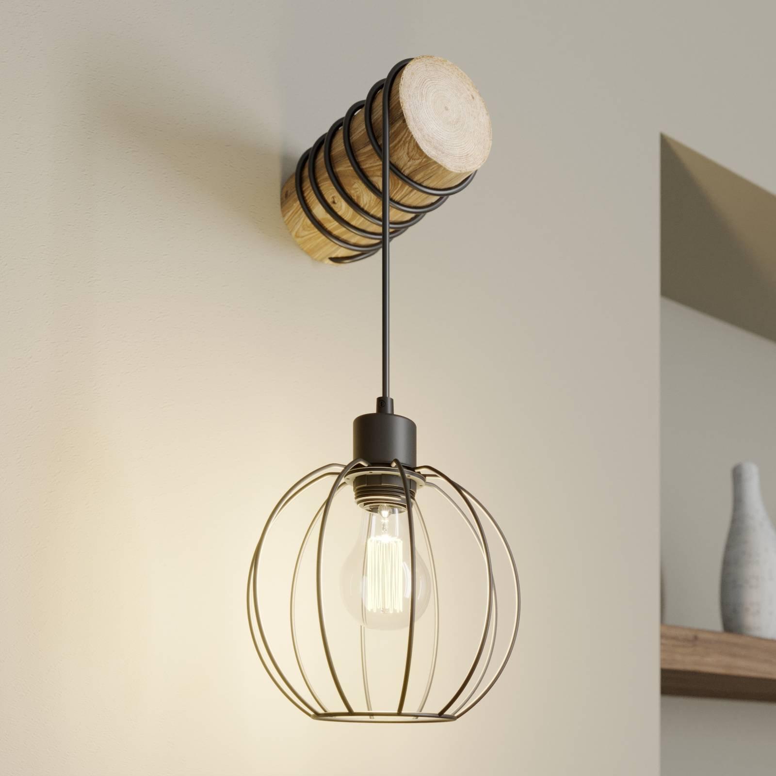 Vegglampe Karou, brun beiset