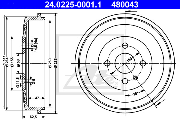 Jarrurumpu ATE 24.0225-0001.1