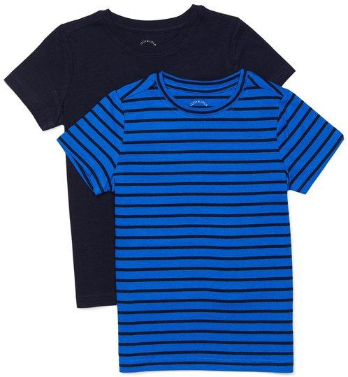 Luca & Lola Adolfo T-Skjorte 2-pack, Blue Stripes 86-92