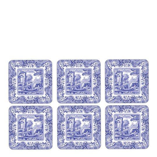 Spode - Blue Italian Glasunderlägg 6-pack