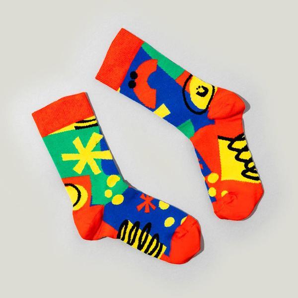 90's Print Smiley Socks
