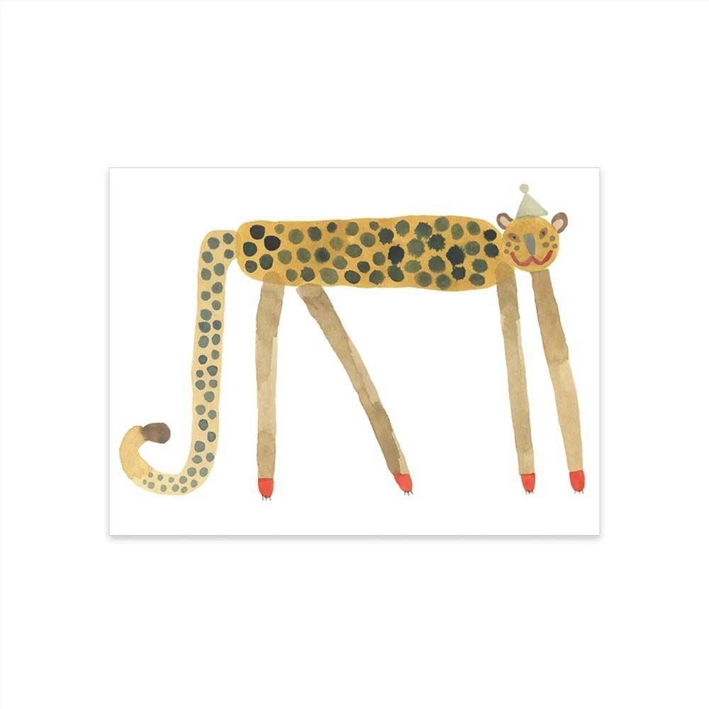OYOY Juliste Smiling Leopard Elvis