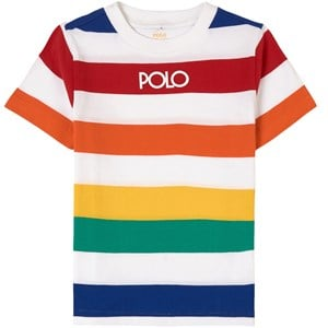 Ralph Lauren Stripe T-shirt Vit 2 år
