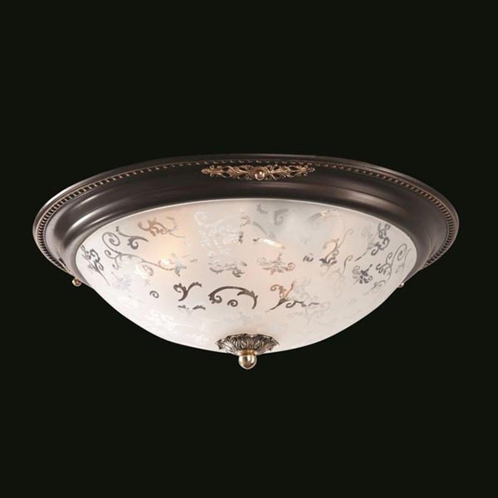 Pen glass-taklampe Diametrik - mørk bronse