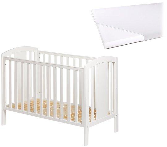 JLY Dream Lux Sprinkelseng med Babymatex Madrass 60x120, Hvit
