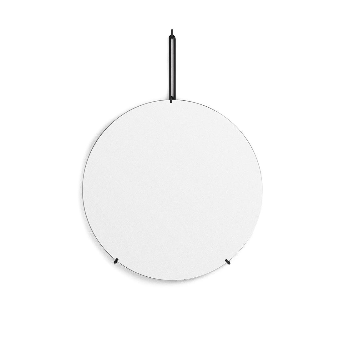 Spegel Ø50cm WALL MIRROR black, MOEBE