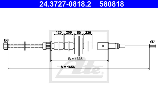 Käsijarruvaijeri ATE 24.3727-0818.2