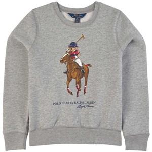 Ralph Lauren Pony Logo Sweatshirt Grå 5 år
