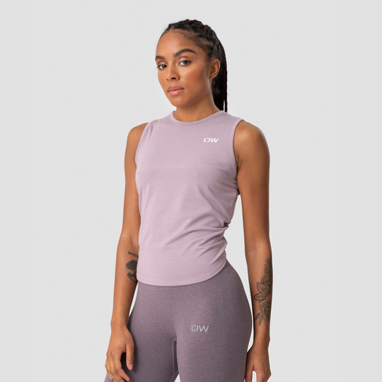 Empowering Open Back Tank, Mauve