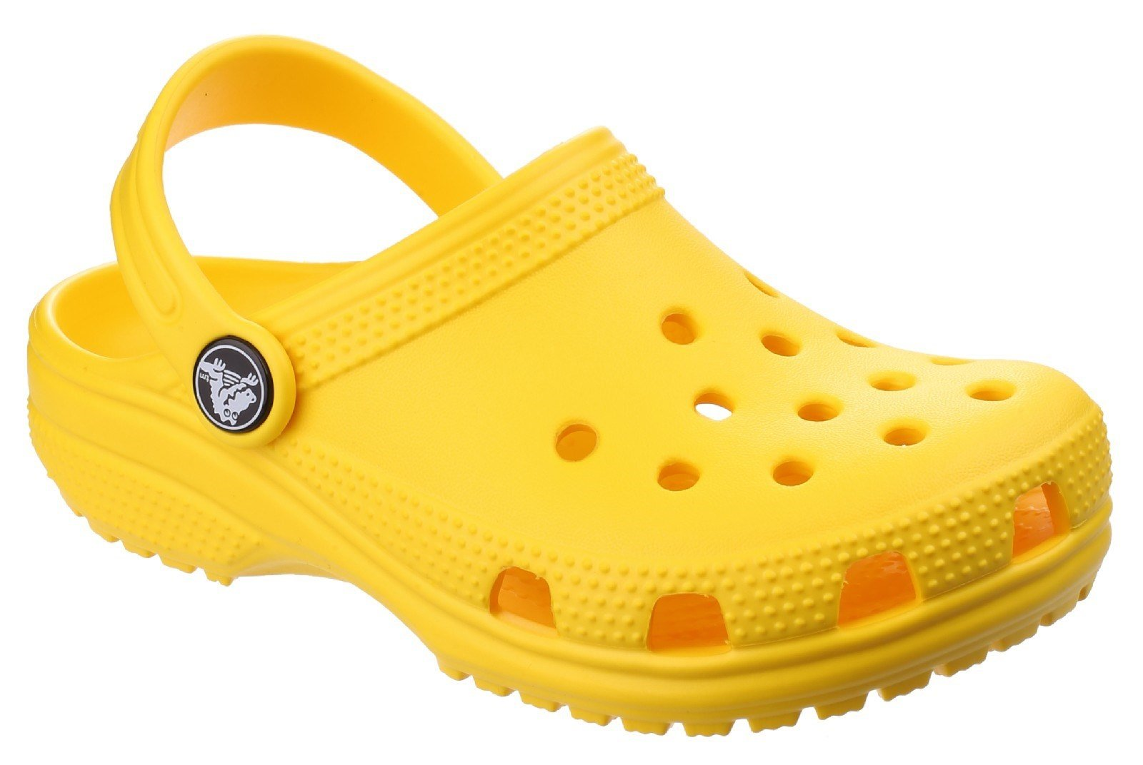 Crocs Kid's Classic Clog Slip On Sandal Various Colours 25239 - Lemon 4 UK