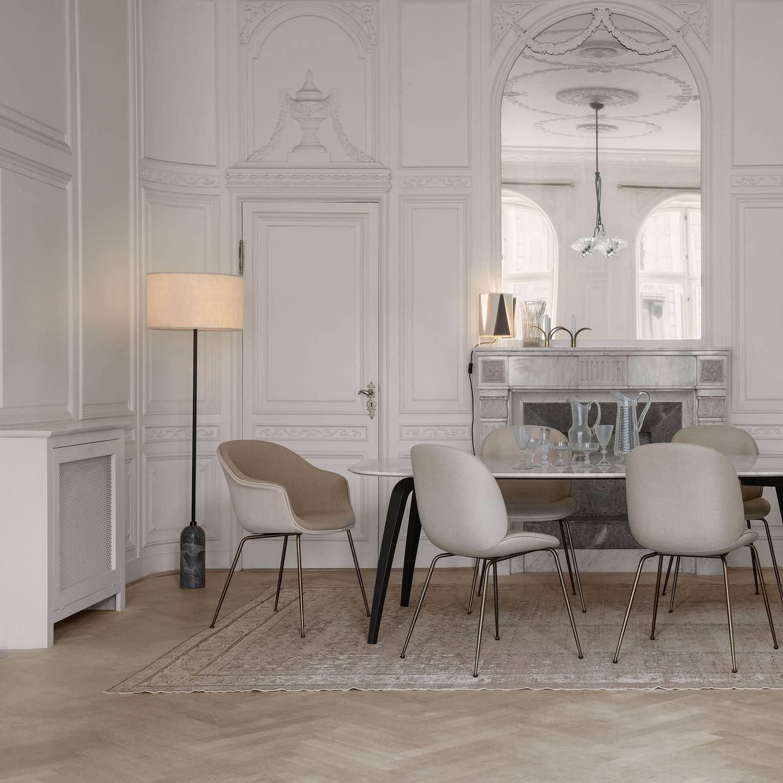 GUBI Gravity gulvlampe, grå marmorert / krem