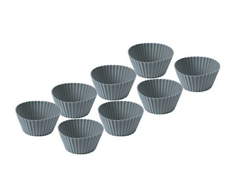 Muffinform 8 stk. grå silikon