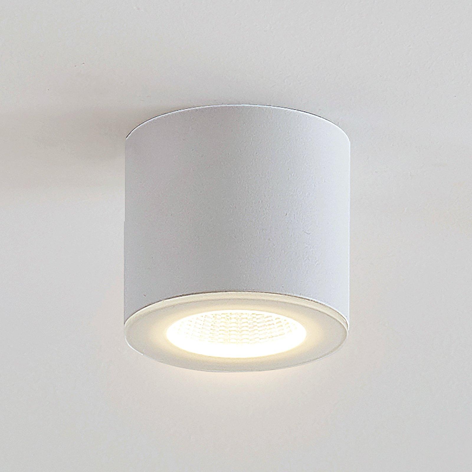 LED-downlight Demrian i hvitt, rund