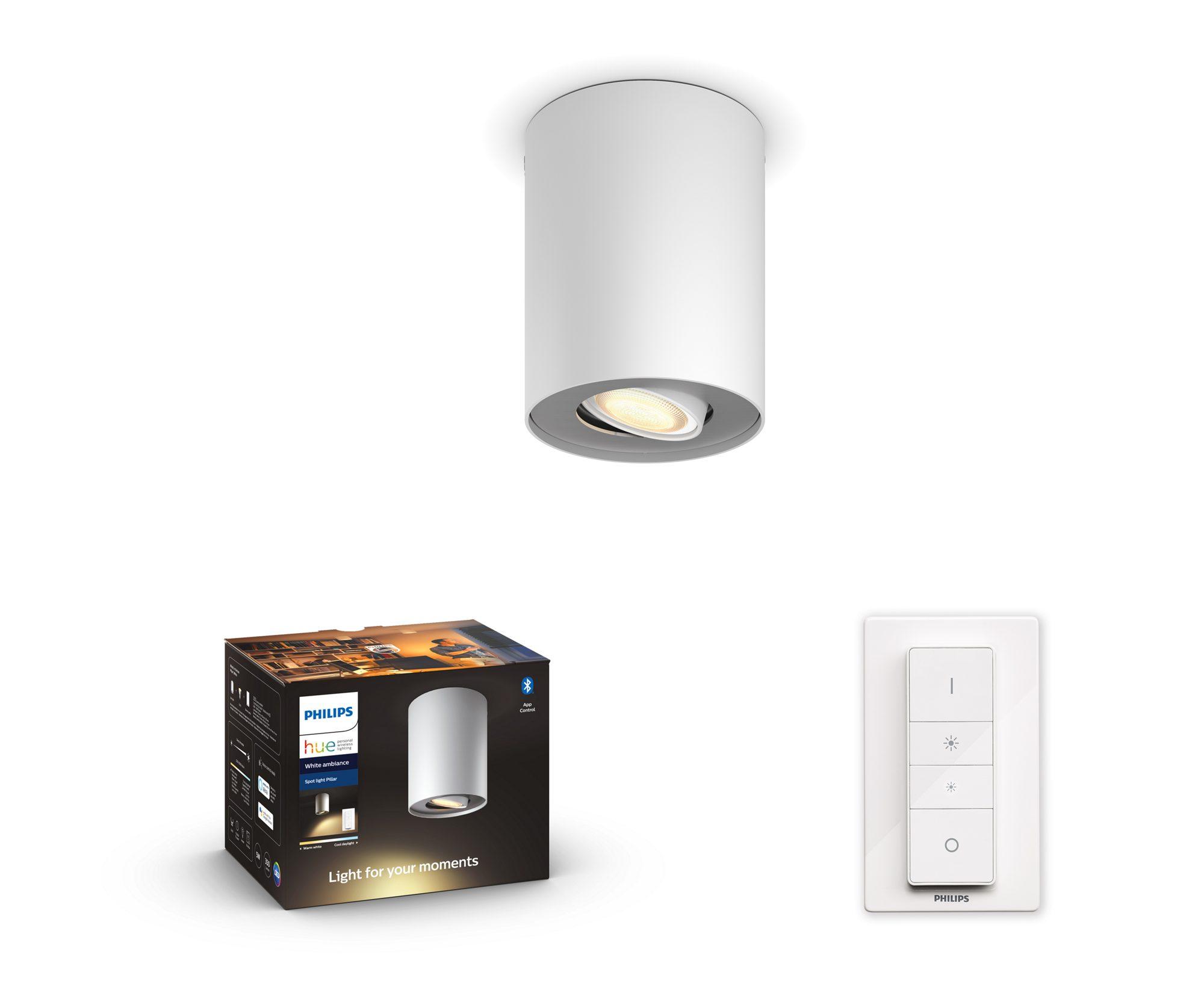Philips Hue - Pillar Hue ext. spot single spot white 1 - White Ambiance Bluetooth