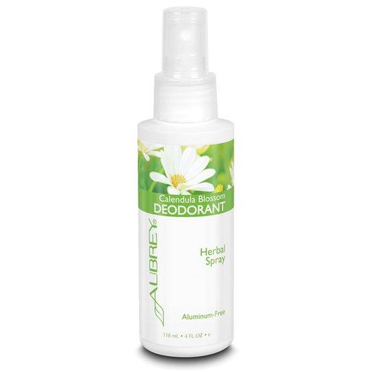 Aubrey Organics Calendula Blossom Deodorant Spray, 118 ml