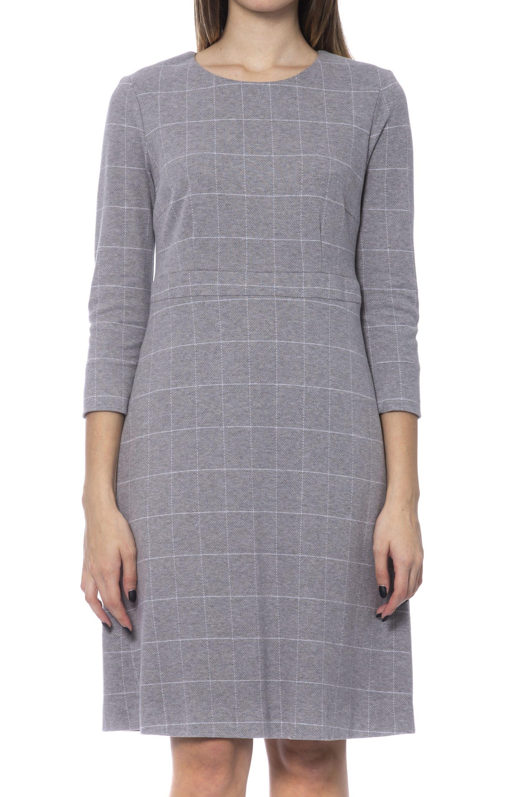 Peserico Women's Dress Grey PE992140 - IT42   S