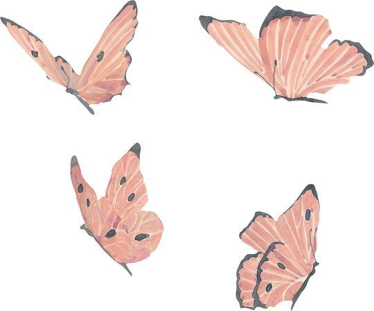That's Mine Wallsticker Butterflies, Rose