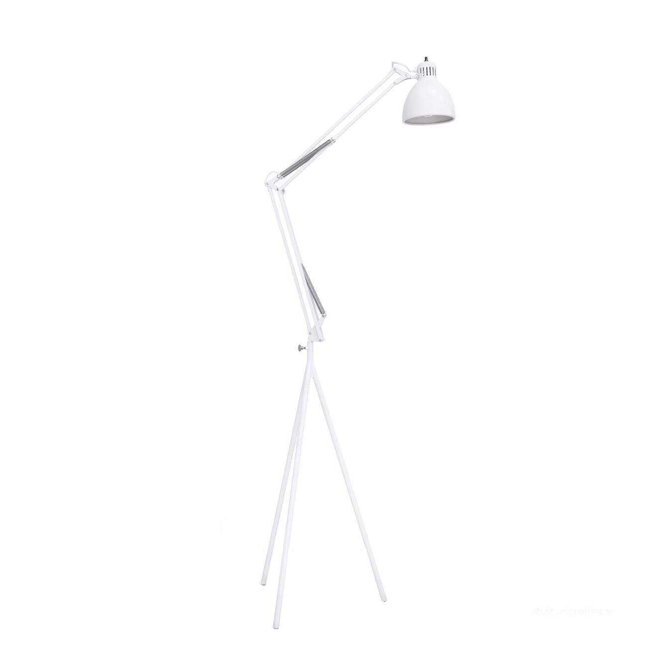 Skrivbordslampa STAND LAMP ink. golvstativ vit, MOEBE