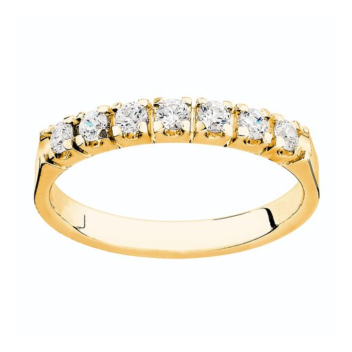 Diamantring i 18K guld, 55