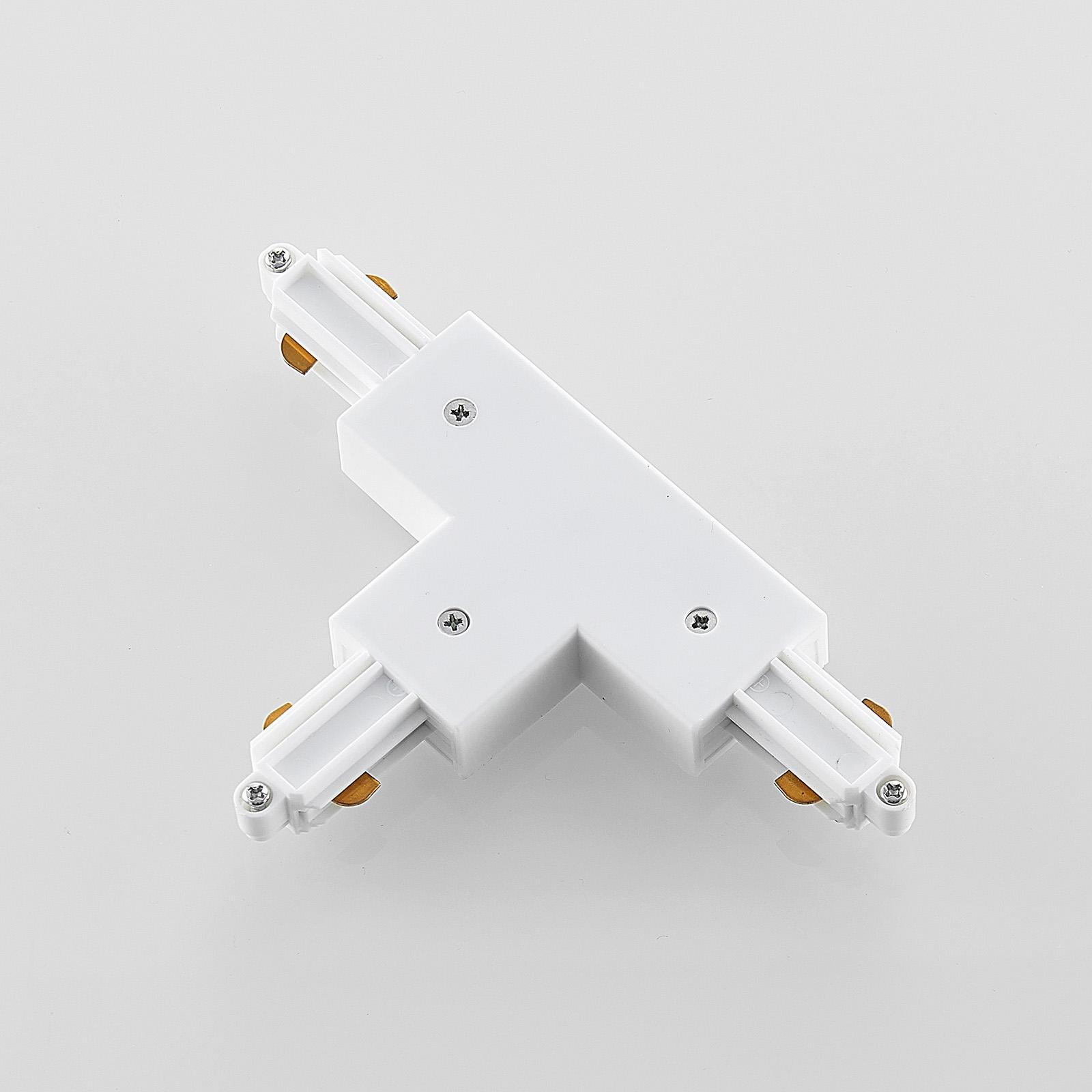 T-liitin 1-vaihekiskojärjestelmälle, valkoinen