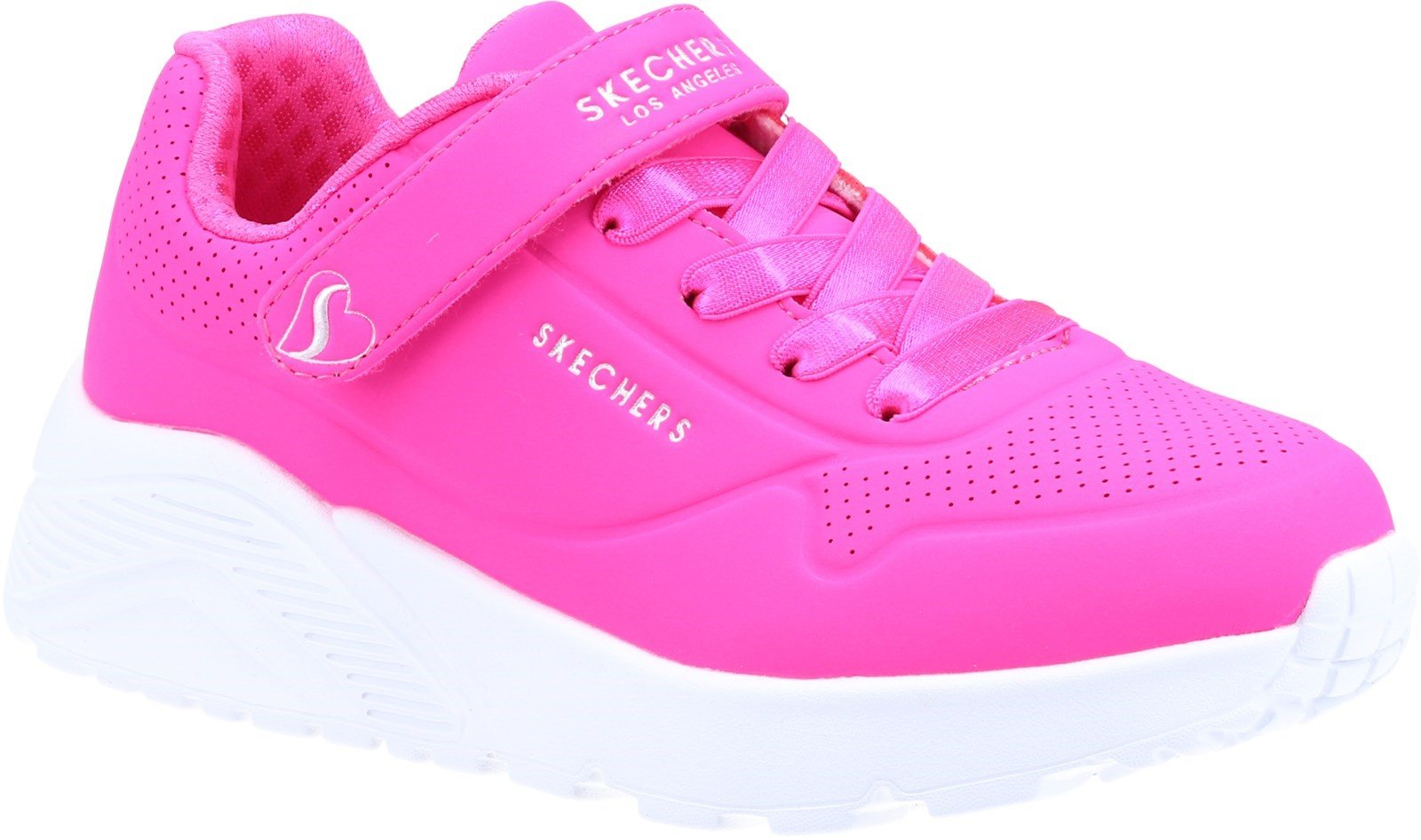 Skechers Kid's Uno Lite Sports Trainer Various Colours 32097 - H.pink Synthetic/Trim 10.5