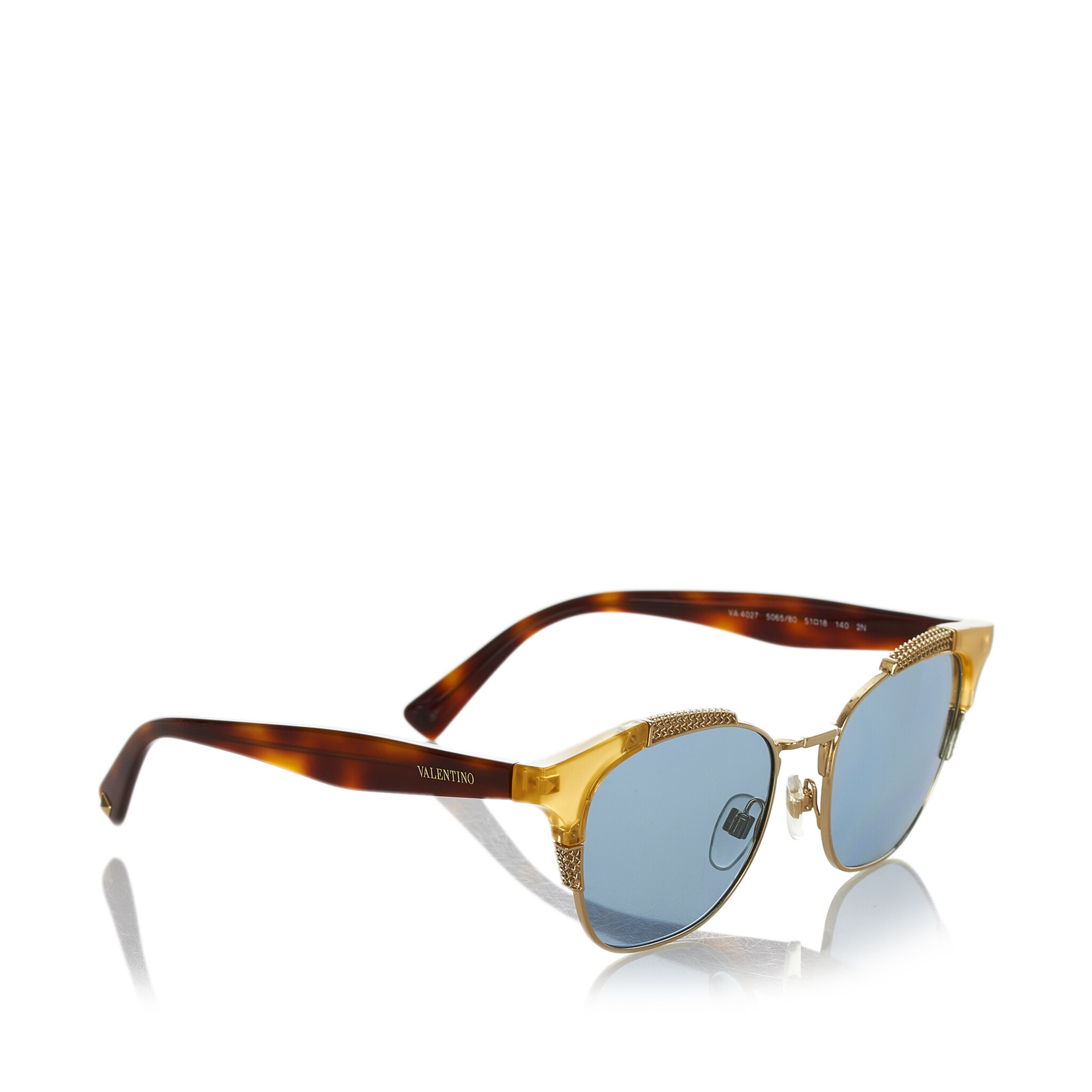 Valentino Half-rim Cate Eye Sunglasses, ONESIZE