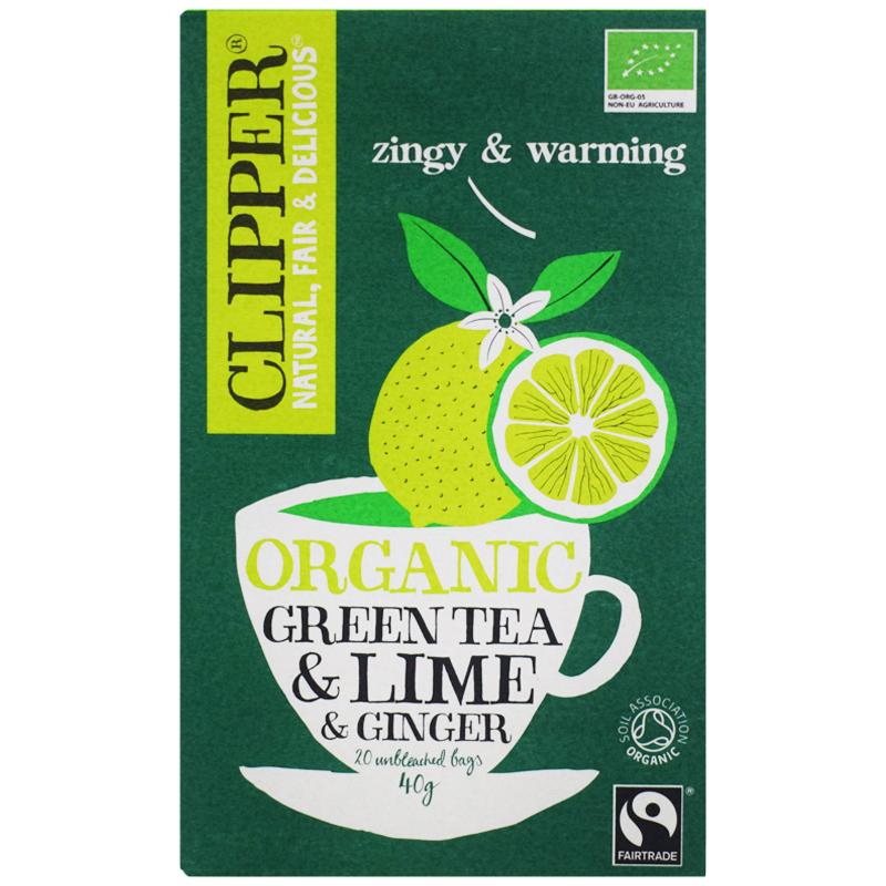 """Eko Grönt Te """"Lime & Ginger"""" 40g - 31% rabatt"""