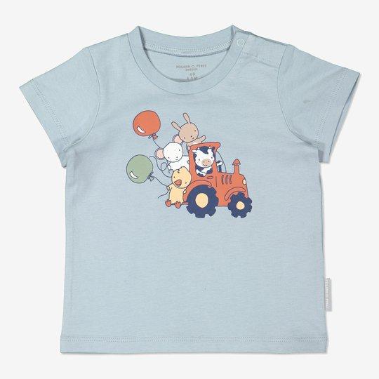 T-skjorte med trykk baby lysblå