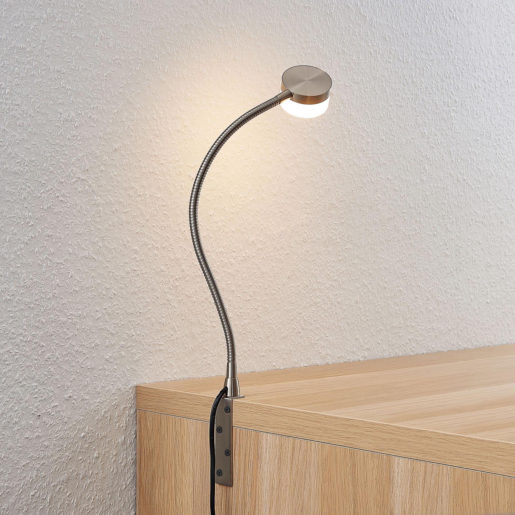 Lindby Gentjana -LED-pöytälamppu, nikkeli