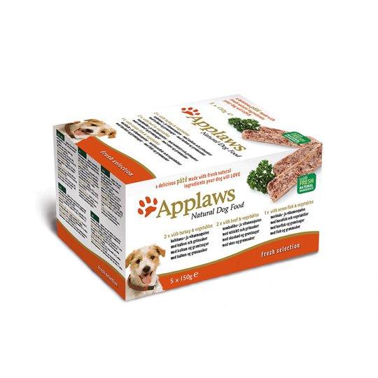 Applaws Dog Turkey, Beef & Fish Multipack Loaf