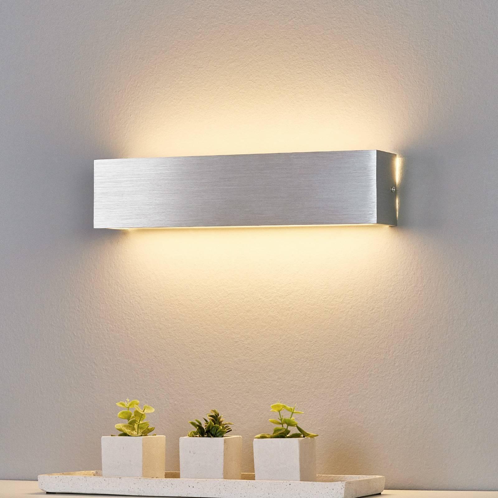 Alumiininvärinen LED-seinävalaisin Ranik